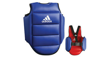 adidas Official WKF Approved Karate Reversible (BLUE/RED) Chest Guard/Protector