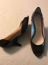 d62e92c83d7a Franco Sarto Women s Shoes Crash Brown Leather Peep Toe Heels Size 7.5 NWOB