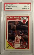1989 89 Fleer Michael Jordan #21, Graded PSA 9 Mint, Chicago Bulls HOF! Rare MJ!