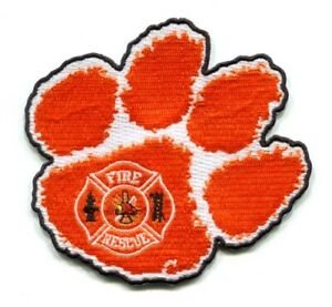 Clemson University Fire and EMS Department Patch South Carolina SC v2 Tiger Paw