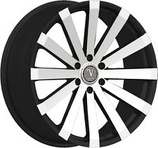 22 inch  22x8 Velocity V12-M Black Machined wheel rim 5x4.5 5x114.3 +38