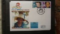 2000 AUSTRALIAN ALPHA STAMP ISSUE FDC, FACE OF COCOS ISLAND 2