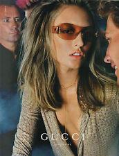 Publicité 2000  Lunette GUCCI  pour femme mode collection
