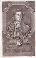 Portrait XVIIIe Othon d'Autriche Duc Styrie Otto der Fröhliche Österreich 1744