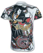 Ako Roshi Herren T-Shirt Irezumi Samurai Tattoos Japan Drachen Judo MMA M L XL
