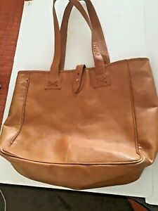 CLAVA AMERICAN CAMEL LEATHER LUGGAGE TOTE BAG