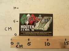 STICKER,DECAL AUTO MOTO ITALIA HOUTEN 2-3 NOV 1996 AUTO'S EN MOTOREN MOTO