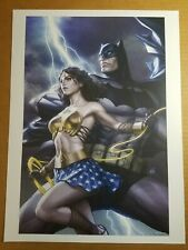 Batman Wonder Woman Art Print DC Comic Poster by Stanley Artgerm Lau