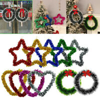 Shining Christmas Wreath Ornament Wall Hanging Decorations Pendant Party Festi