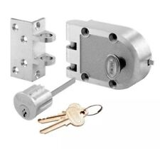 Prime-Line Products SE 15318 Bronze Deadlock Lock Single Cylinder and Angle