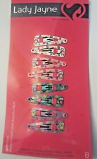 Lady Jayne One Touch Assorted girl style decorated Pins / Clips , PK 8 3 years +
