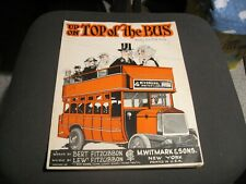 New ListingUp on Top of the Bus double deck bus novelty song Sheet Music