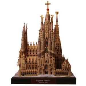 DIY Sagrada Familia 3D Paper Model Spain Architecture Puzzle Jigsaw Creative Toy