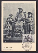 France 1956 stamp SAINT-YVES Yvert# 1063 on FDC Maximum card...............X1149