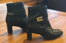 AMANDA SMITH Leather Ankle Boots Zip Up Women's Size 7M