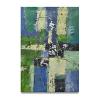 NY Art - Silver Leaf Modern Abstract 24x36 Original Oil Painting on Canvas