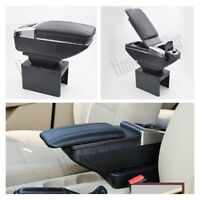 USB Center Console Car Armrest Box Storage Bag with Cup Holder Ashtray 2019