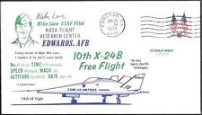 US Space Cover 1974. X-24B Lifting Body Flight 38. Mike Love. Shuttle Tests