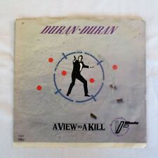 Duran Duran 45 Record A View to a Kill & That Fatal Kiss Vinyl 007 James Bond