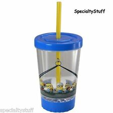 NEW DESPICABLE ME MINIONS 12oz WILD LED LIGHT UP FUN SIP CUP STRAW - ZAK! (RG)