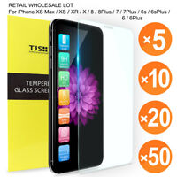 TJS Wholesale Lot 9H Tempered Glass For iPhone XS Max/ XR /XS / X 8 / 7 / 6 Plus