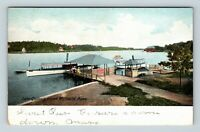 Worcester MA, Lake Quinsigamond, Massachusetts, Vintage Postcard Z59