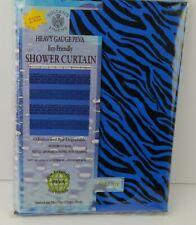 Sultan's Linens Peva Vinyl Shower Curtain Blue / Black Animal Print