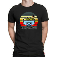 Send Noods Shirt Funny Great Ramen Noodle Vintage Retro Men's Cotton T-shirt