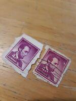 RARE Vintage U.S.A. Abraham Lincoln Purple 4 Cent Stamp 1962