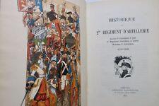 Historique du 2me Régiment d'artillerie 1899