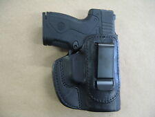 Beretta Nano IWB Leather In The Waistband Concealed Carry Holster CCW Black RH
