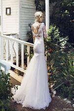 Riki Dalal 1503 Provence White Wedding/Bride Fishtail Dress 8 Galia Lahav Berta