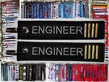 Keyring AIRCRAFT ENGINEER Technician Mechanic 4 Golden Bars keychain tag
