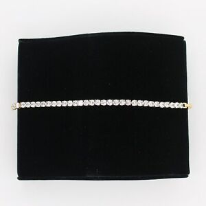 Fashion Elegant 18K Gold Plated Bracelet With White Crystals Non-Alergic