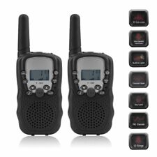 2x Baofeng Walkie Talkie Uhf Auto Multi 8 Channels 2-Way Radios T388 Black Vp