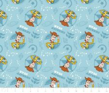 DISNEY TOY STORY WOODY FABRIC * LIGHT  BLUE * NEW * FREE POST *