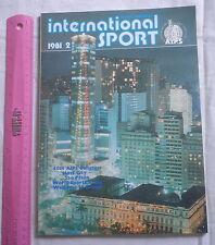 INTERNATIONAL SPORT MAGAZINE 1981 AIPS,Brasil Sao Paulo,5 languages,football