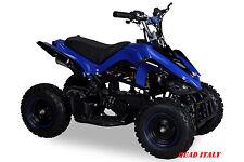 MINIQUAD  50 CC MINI QUAD AVV. ELETTRICO MOTO BAMBINI CROSS RACER blu SUPER!