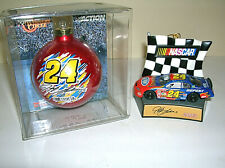 Qty 2 Jeff Gordon Hanging Ornaments NASCAR 2003 Car & 2001 Christmas Ball