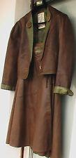 DANIEL R München - ensemble chasse (veste + jupe) cuir de cerf - Hirsch Jagd 38