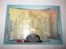 STAR WARS CLONE WARS 2004 TOPPS CHASE CARD 3-D 3D SUBSET N° B3 MINT