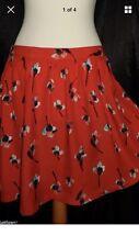 TOPSHOP Vintage 40s 50's Rockabilly Swing Skater Skirt Mini  Size 8