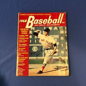 JIM LONBORG Hand Signed Street & Smith's 1968 Official Yearbook Magazine
