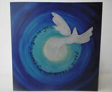 ORIGINAL CHRISTIAN ART 'SPIRIT OF PEACE' GREETINGS CARD WITH BIBLE VERSE