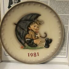 M J Himmel Annual Plate 1981 Collectors New In Box Goebel