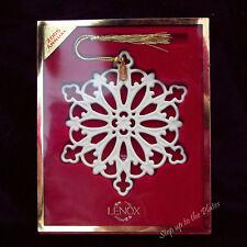 Lenox China 2005 SNOWFLAKE Snow Fantasies Christmas Tree Holiday Ornament /s MIB
