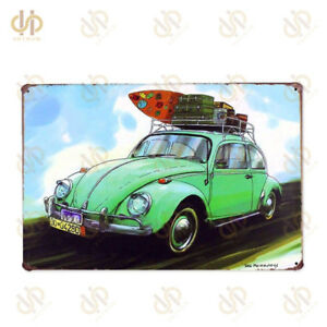 Car Poster Metal Tin Sign Plaque Painting For Bar Pub Cafe HouseWall Sticker