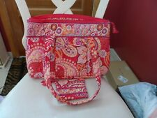 Vera Bradley large Betsy handbag and coin purse in Raspberry Fizz