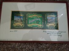 Rare Find- 1990 Underberg natural Bitters Signed Print 23/300