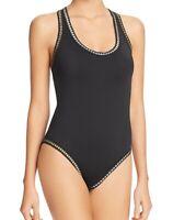 La Blanca Womens Swimwear Black Size 4 Threading Cutout One Piece $123- 869